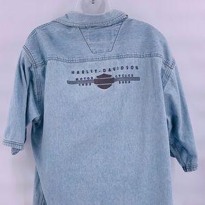 Harley Davidson 2003 jean button up size large